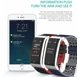 Image 5 - E08 سوار ذكي ECG PPG قياس ضغط الدم جهاز تعقب للياقة البدنية سوار ساعة مقاوم للماء مراقب معدل ضربات القلب