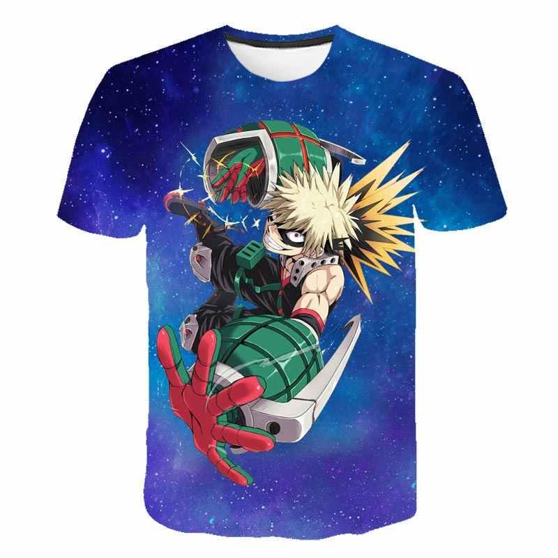 M H10 Monifuon My Hero Academia T-Shirt T-Shirt Anime Imprim/é en 3D /à Manches Courtes O-Neck Tops d/ét/é pour Femmes Filles