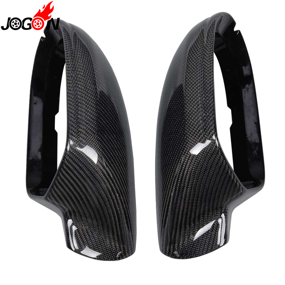 Carbon Fiber For Audi A6 S6 C7 RS6 4G 2013 2014 2015 2016 2017 2018 Car Side Wing Back Rearview Mirror Cover Replace Lane Assist image