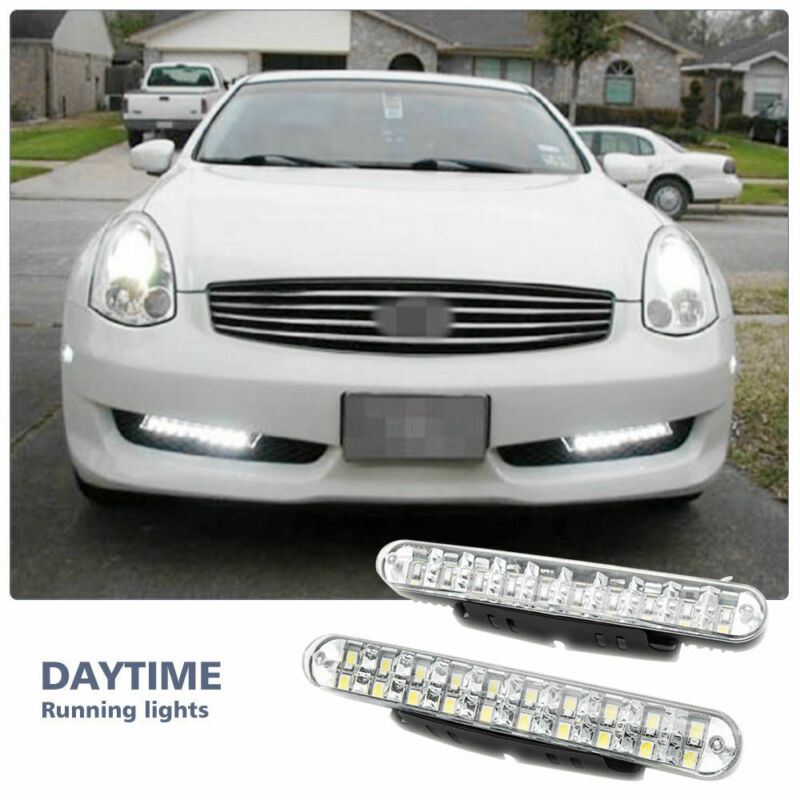 2PCS 30 LED Car Daytime Running Light DRL Daylight Lamp With Yellow Turn Lights