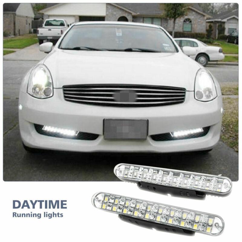 2PCS 30 LED Car Daytime Running Light DRL Daylight Lamp With Yellow Turn Lights