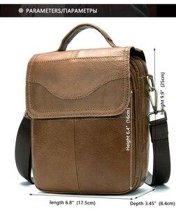 Image 2 - WESTAL Bolso de hombro de piel auténtica para hombre, bandolera vintage, diseño de bolsos, 8558