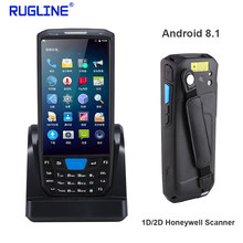 Rugline 4G Handheld Pda Android 8.1 Pos Terminal Touch Screen 2D Barcode Scanner Draadloze Wifi Bluetooth Gps Qr Code reader