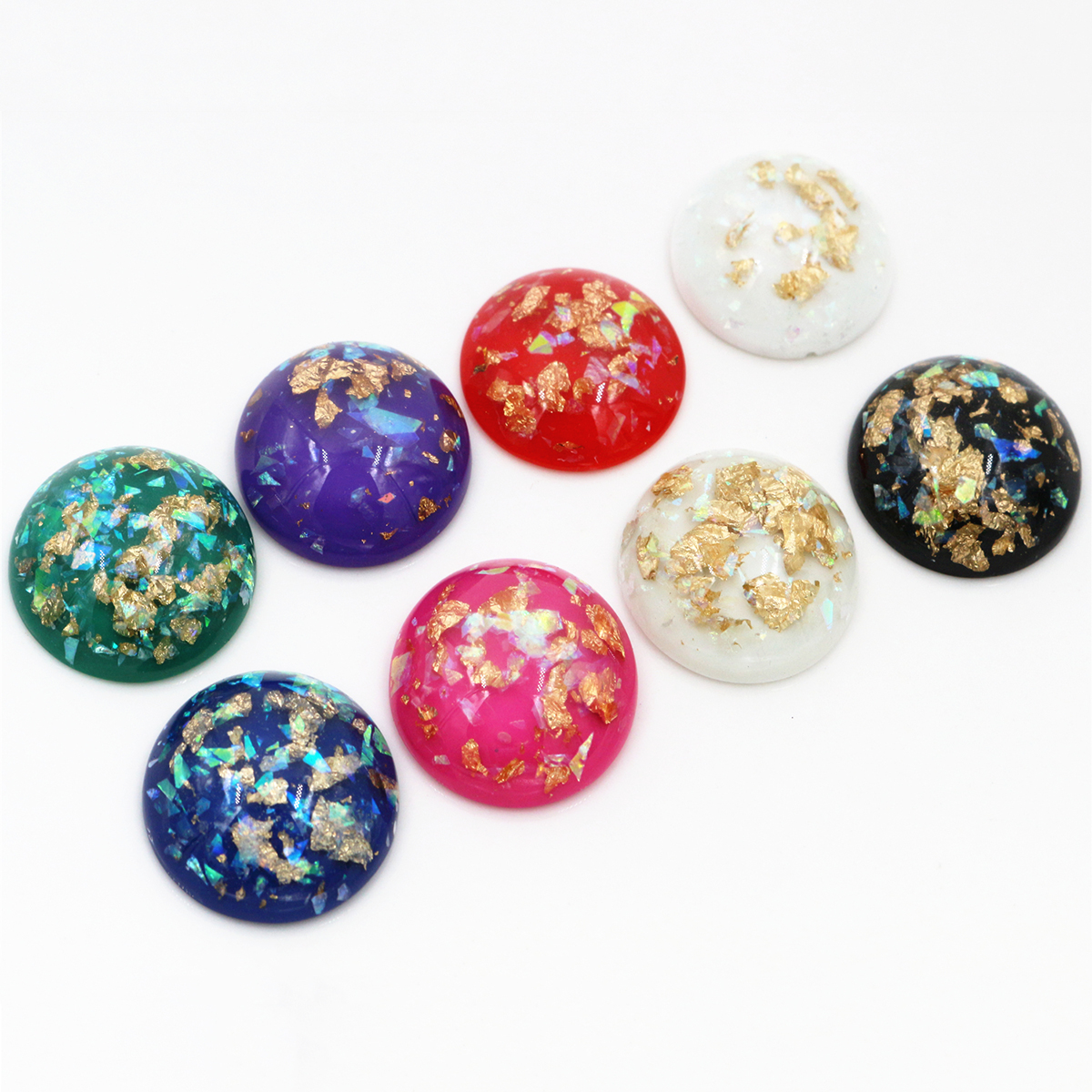 New Fashion 5pcs 25mm 7 Color Shell Fashion Style Flat Back Resin Cabochons Cameo Fit 25mm Cameo Setting Bracelet Tray Earrings