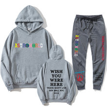 Travis Scotts ASTROWORLD Hoodie + Jogging Men's Suit Letter Print Women's Swags Hope you are here to add the Hoodie