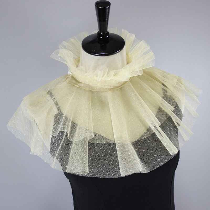 Мода точка шаблон сетка на стойке поддельные воротник двойной слой гребешок обода ожерелье колье Декор