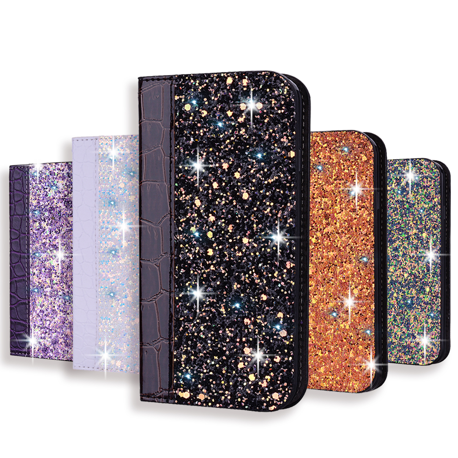 Glitter Bling <font><b>Case</b></font> For Huawei <font><b>Mate</b></font> 10 <font><b>20</b></font> P20 P30 <font><b>Lite</b></font> Pro Honor 10 9 <font><b>Lite</b></font> 7x Y6 Y7 Y9 P Smart+ 2019 Leather <font><b>Flip</b></font> Book <font><b>Case</b></font> Coque image
