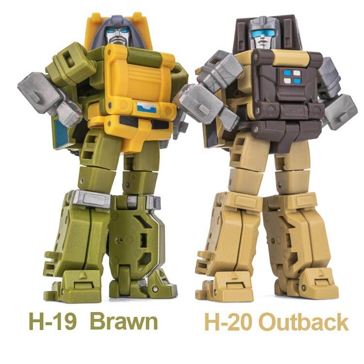 NA Newage Transformation H19 Brawn H20 Outback Mini Pocket Warrior Action Figure Robot Toys