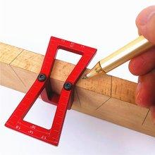 Ласточкин хвост плотник линия планировщик практичная линейка алюминиевый сплав Scribing Gauge шаблоны перекрестный измерительный деревообрабатывающий рисунок