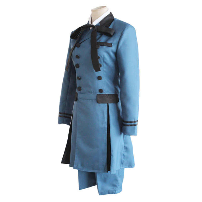 Preto mordomo kuroshitsuji ciel phantomhive cosplay traje encarnação sebasti kuroshitsuji aristocrat cosplay traje