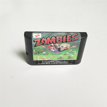 Zombies ate my Neighbours - EUR Cover With Box 16 Bit MD Game Card for Sega Megadrive Genesis Video Game Console 2