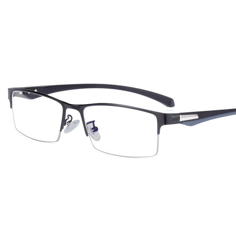 Myopia Glasses Frame Men TR Optical Plain Half-frame Spectacle