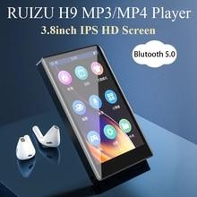 Ruizu Bluetooth 5.0を搭載したh9メタルMP4プレーヤー,3.8インチフルタッチスクリーンを備えたスピーカー,FMラジオ,録音,ビデオ,電子書籍をサポート