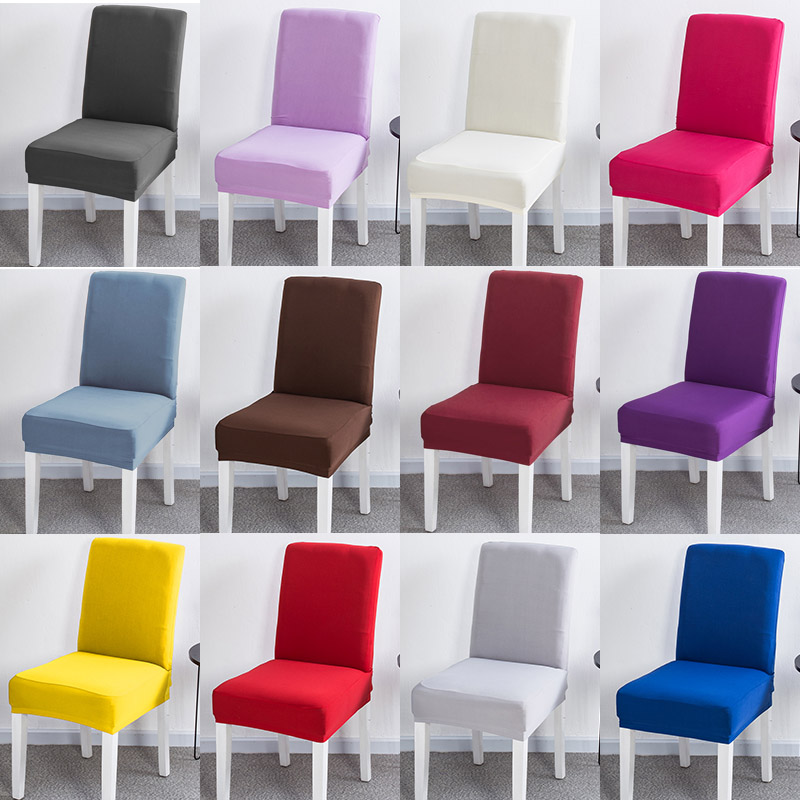 Spandex Elastic Chair Cover Printing Solid Dining Seat Cover For Banquet Modern Removable Anti-dirty Kitchen Housse De Chaise