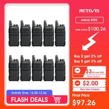 10pcs Retevis RT622 RT22 Mini Walkie Talkie Radio Station 16CH UHF VOX Scan Squelch Two Way Radio Portable + Programming Cable(China)