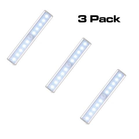 espow 10 led ir detector de movimento infravermelho sem fio sensor de iluminacao armario lampada