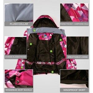 Image 4 - Kombinezon narciarski zestaw damski wiatroszczelna wodoodporna ciepła kurtka narciarska spodnie narciarskie odzież zimowa narciarstwo i kombinezony snowboardowe marki
