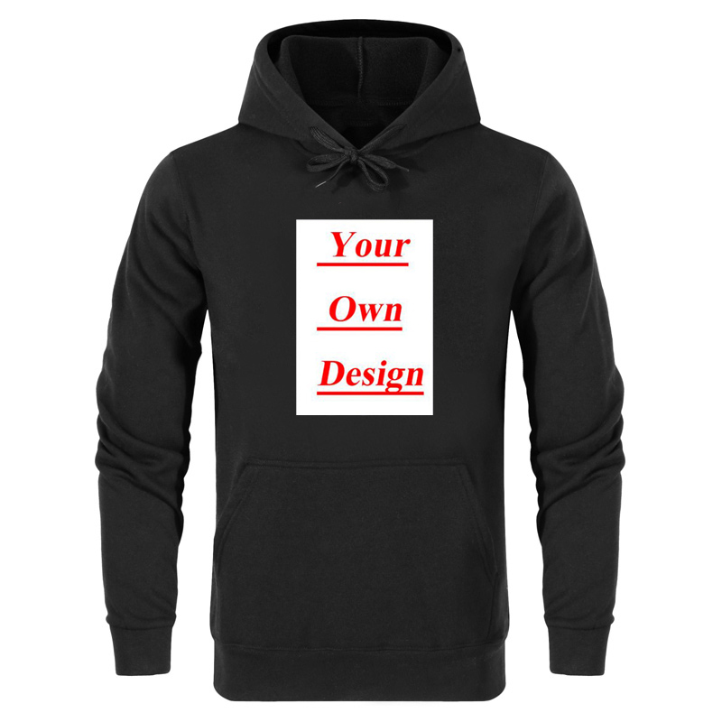 Men Custom Hoodies Pink White Black Grey Blue Hoodie Streetwear Clothing Winter Mens Hoodies Unisex Black Hoodie