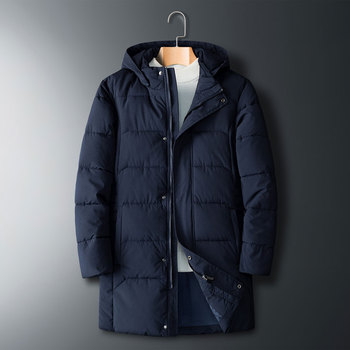 Plus Size 8xl 7xl Mens Long Cotton Hooded Jacket Coat Brand New Male Casual Winter Warm Parka Men Thick Jacket Overcoat
