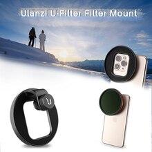 Adaptador de filtro universal ulanzi, anel adaptador de filtro em u 62 67mm para iphone 11 pro max samsung huawei multi acessórios da lente da câmera