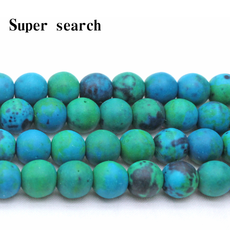 500pcs Colorful Frosted Glass Beads Round Smooth Matte Loose Bead Beading 4~10mm