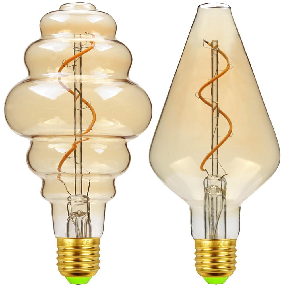 TIANFAN Edison Bulbs Vintage Light Bulb Led Bulb Beehive Vase Led Filament 4W Dimmable 220V E27 Edison Bulb