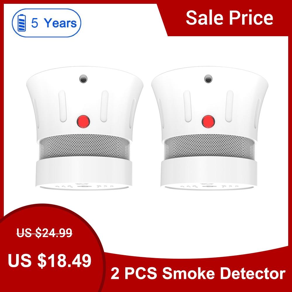 CPVan FSD001 2pcs/Lot Mini Smoke Detector Smoke Sensor CE Certified Smoke Alarm Sensor 5 Year Battery Life Rookmelder Fire Alarm