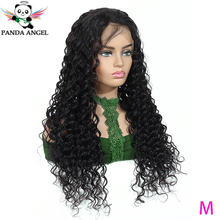 цена на 13*4 Deep Wave Human Hair Lace Front Wigs 13*6 150% Brazilian Lace Front Human Hair Wigs For Black Women Bleached Knots Panda