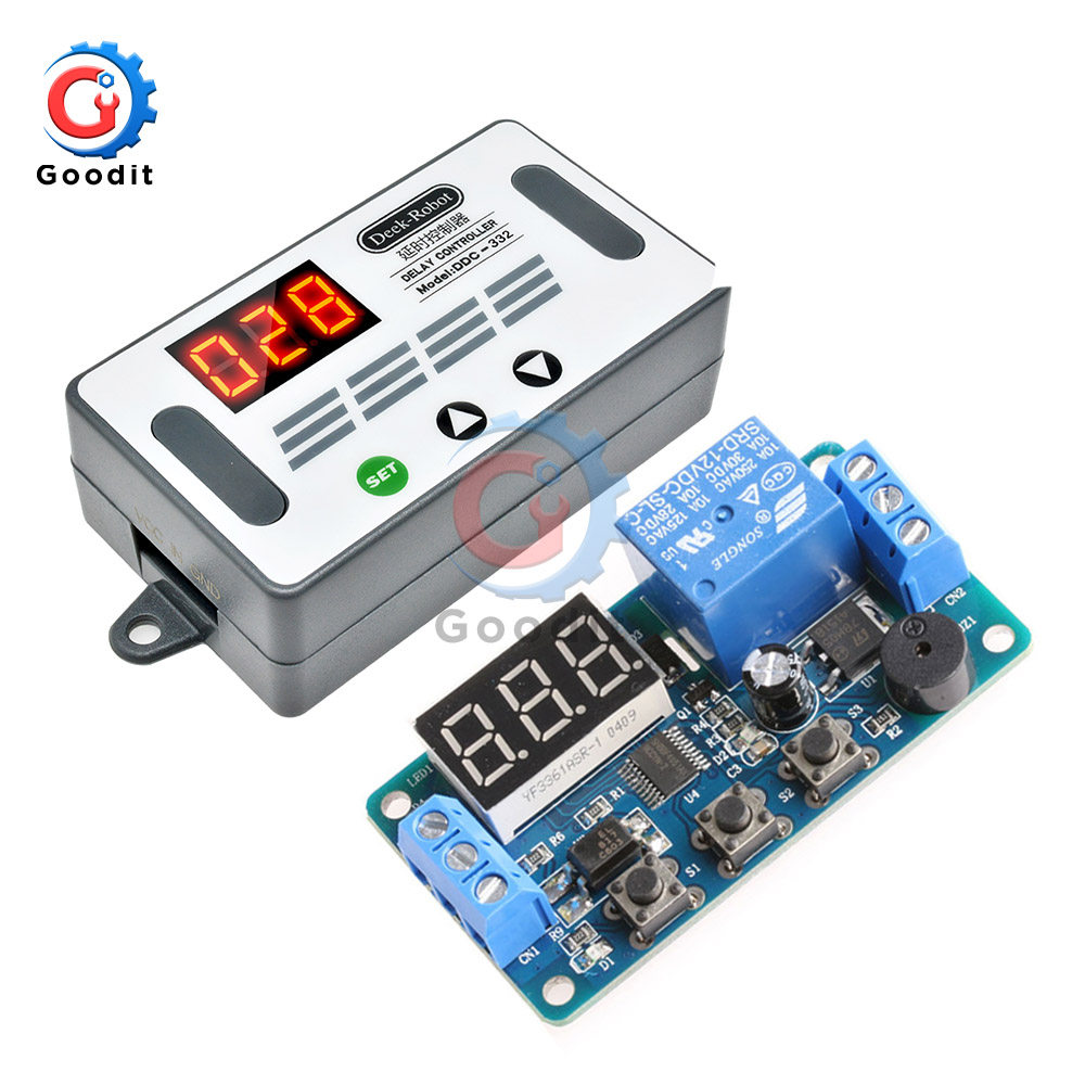 Dual MOS Digital Time Delay Relay Trigger Cycle Timer Switch Circuit Board