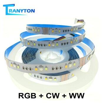 цена на SMD 5050 RGB LED Strip Waterproof 5M 60/90LEDs DC 12V CCT RGBCCT RGBW RGBWW White Warm White Flexible Led Tape Light