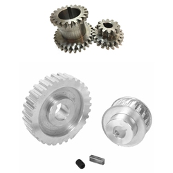 2Pcs Cj0618 Teeth T29Xt21 T20Xt12 Dual Dears Metal Lathe Gear & 2Pcs Pulley Gear Motor Belt Gear Drive Wheel Gear