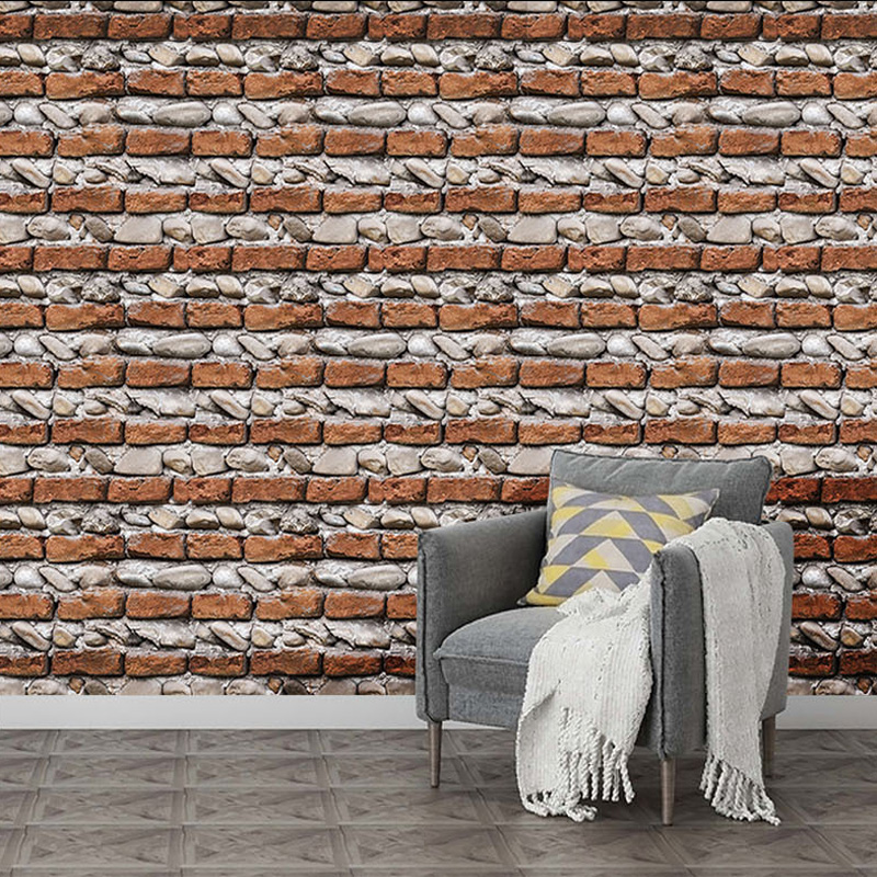 Clearance SaleWall-Stickers Paper House-Decoration Brick-Stone Self-Adhesive Living-Room 3d Pvc