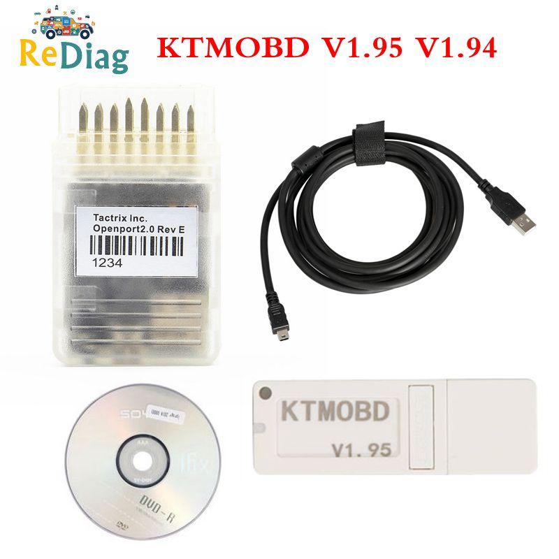 Lo más nuevo KTMOBD V1.95 V1.94 KTMOBD herramienta de actualización de CCE DiaLink J2534 transferencia estable Lectura Real KTM OBD USB Dongle
