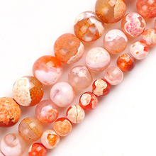 Jewelry Orange Glass-Spacer Making-Bracelets Loose-Beads Agates Natural-Stone 8/10MM