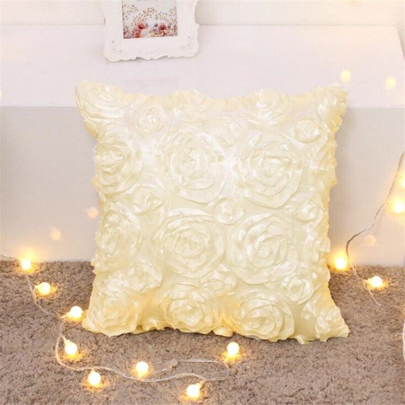 Стереоскопический розовый квадратный чехол для подушки, наволочка для подушки из полиэстера, наволочка для домашнего декора, 4 цвета