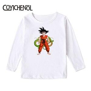 Image 4 - Dragon Ball kids tshirt 2019 Spring and autumn causul 2 12 Years animation long sleeve Kids Printed cartoon Tops COYICHENOL
