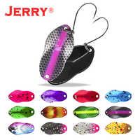 Jerry 2g 3g micro esche da pesca ultralight in ottone metallo duro esca singolo gancio d'acqua dolce zona trota pike perch cucchiaio bagattella pesca