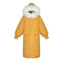 Winter Jacket Women Thick Warm Fur Hooded Parkas Mujer Down Cotton Padded Coat Long Paragraph Loose Jacket Female Parkas Coat цена