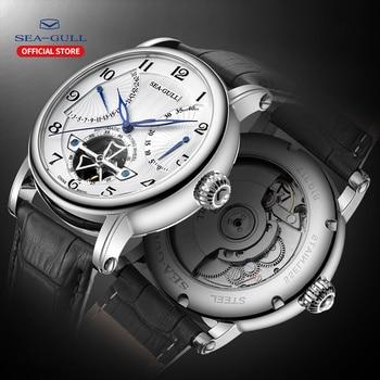 2019 novos produtos seagull relógios de luxo relógio mecânico automático masculino alta marca 50m pulseira impermeabilização esportes masculinos