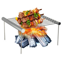 New Products Outdoor Portable Stainless Steel Barbecue Grill Mini Barbecue Rack Folding Barbecue Net Deconstructable Amazon