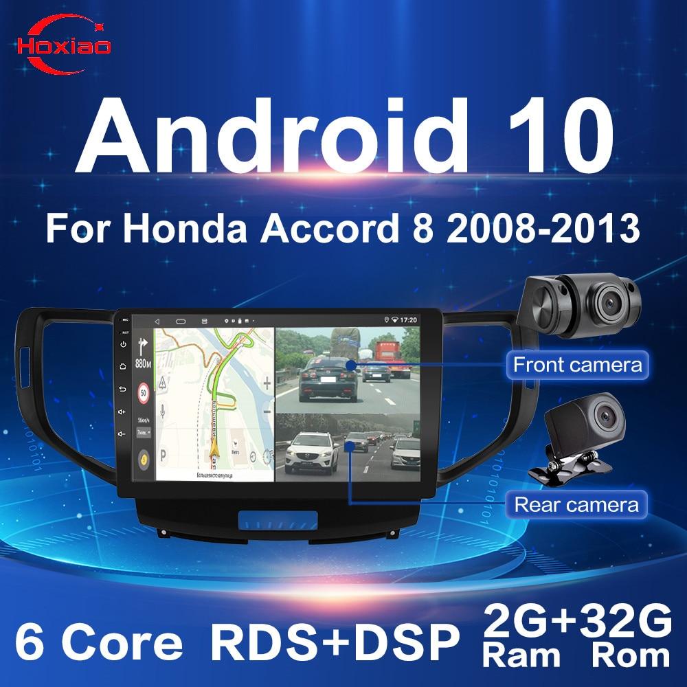 9 дюймов 2G + 32G Android 10 2 Din автомобильное радио четырехъядерный WIFI GPS Bluetooth Мультимедиа для Honda Accord 8 2008-2012 две камеры без DVD