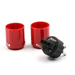 Image 5 - Pair Audio Grade Rhodium Plated EU Schuko AC Power Plug+ IEC Connector Plug DIY Power Cord