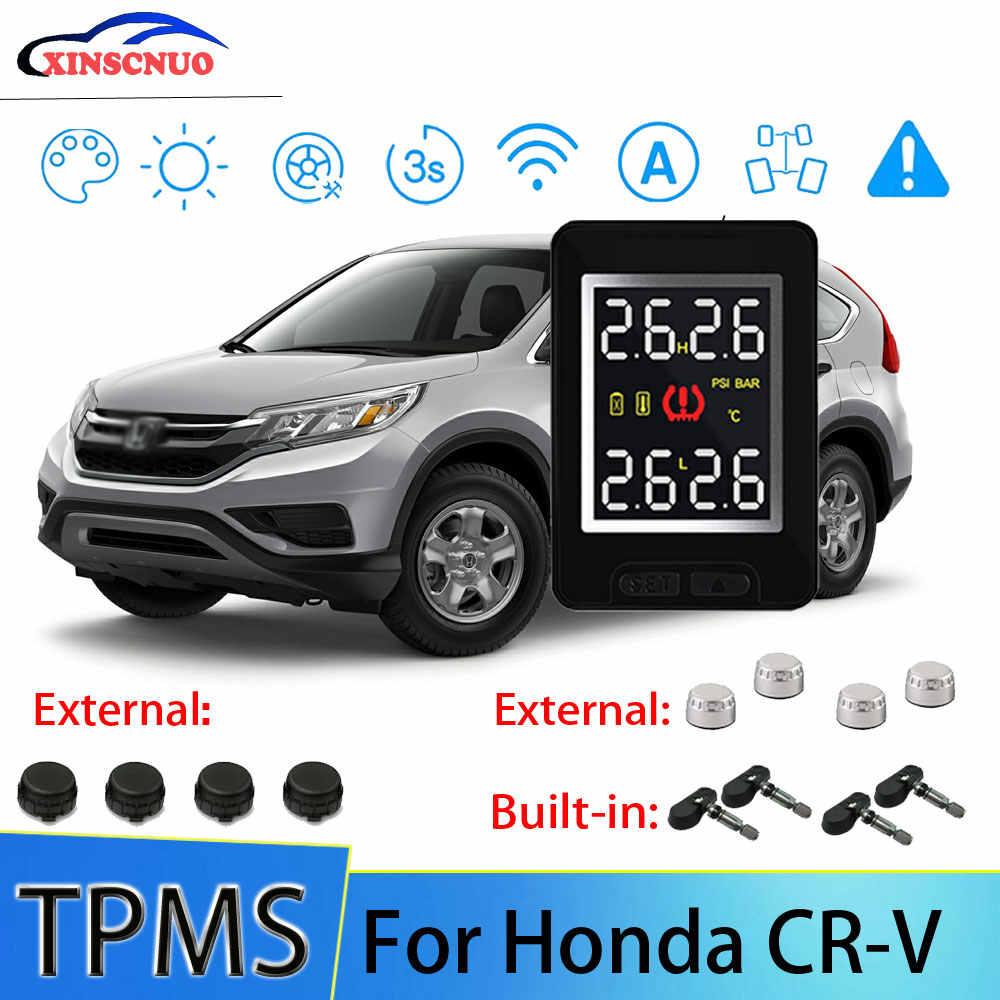XINSCNUO Xe TPMS Cho Xe Honda CRV CR V Áp Suất Và Nhiệt Độ Lốp Hệ Thống Giám Sát Với 4 Cảm Biến|Tire Pressure Alarm| - AliExpress