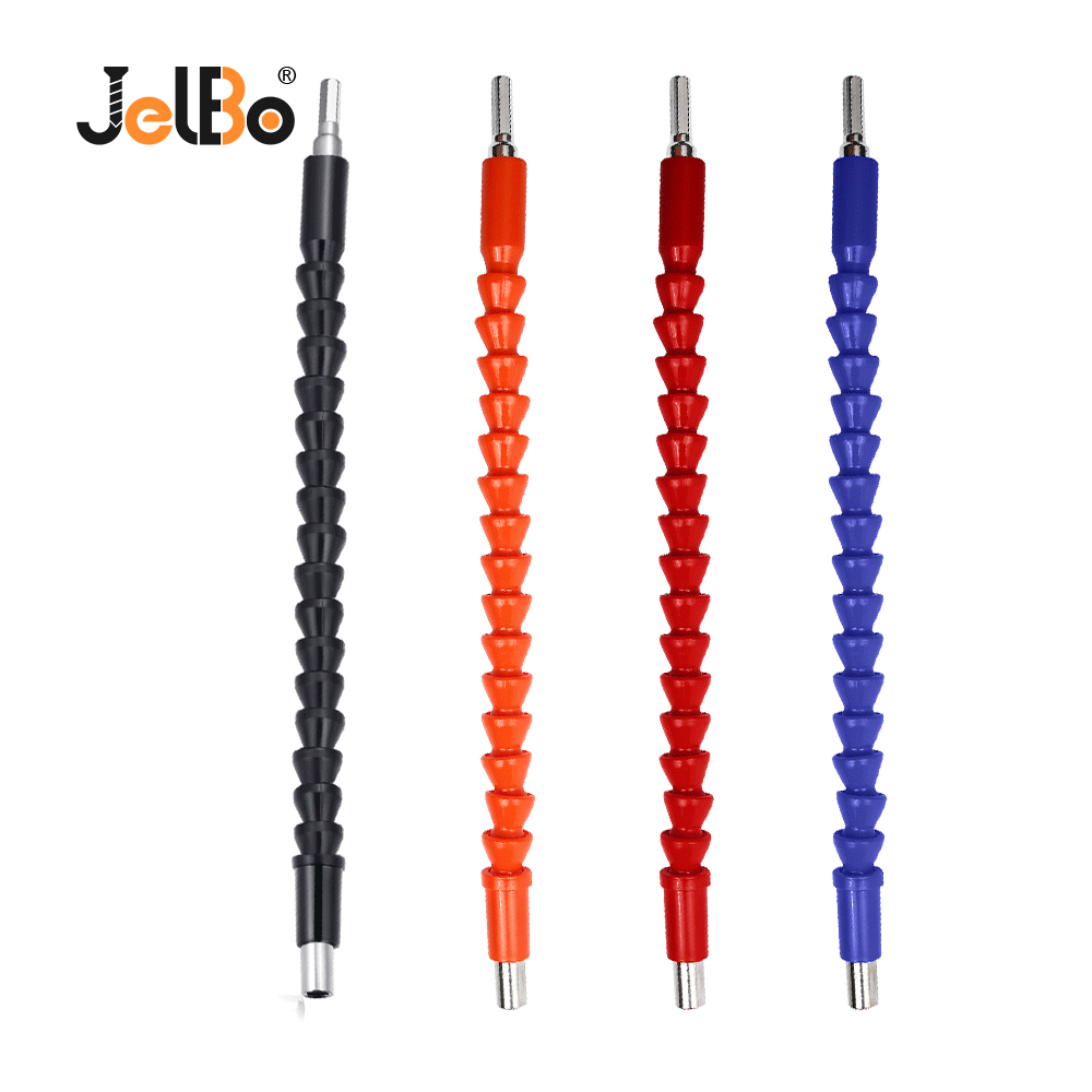JelBo Indexable Drill Bit Extension Hex Shank Flexible Shaft Socket Screwdriver Adapter Connect Rod Holder Impact Drill Tool