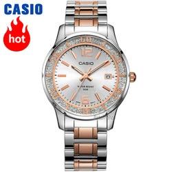 Reloj Casio para mujer, conjunto de lujo de la mejor marca, reloj resistente al agua de 50 m, reloj de cuarzo para mujer, reloj de cuarzo para LTP-1359