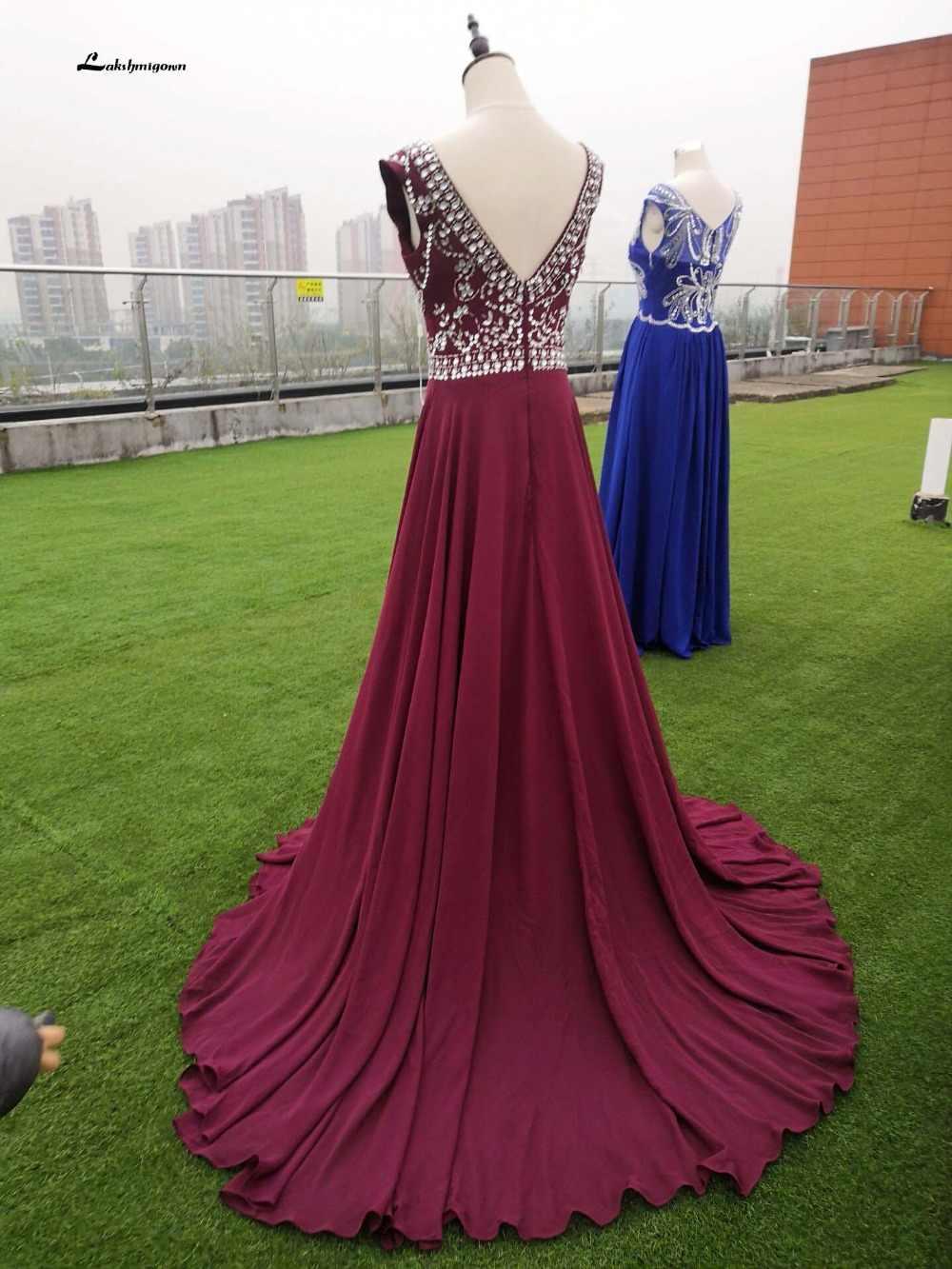 Vestidos de gala платья для выпускного вечера с кристаллами и бисером 2019 длинные дешевые вечерние платья vestido de festa платье для выпускного вечера robe de soiree