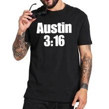 T-shirt Stone Cold Steve Austin à manches courtes, 316 coton doux, taille européenne, The Texas Rattlesnake, 100%