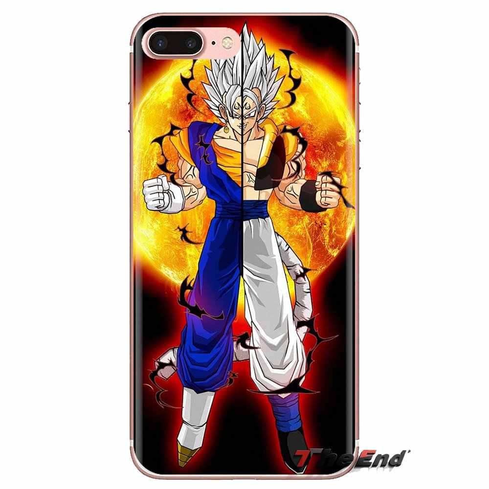 Dành Cho Sony Xperia Z Z1 Z2 Z3 Z5 Nhỏ Gọn M2 M4 M5 C4 E3 T3 Xa Huawei Mate 7 8 y3II Điện Thoại Ốp Lưng Dragon Ball GT Goku Super Saiyan