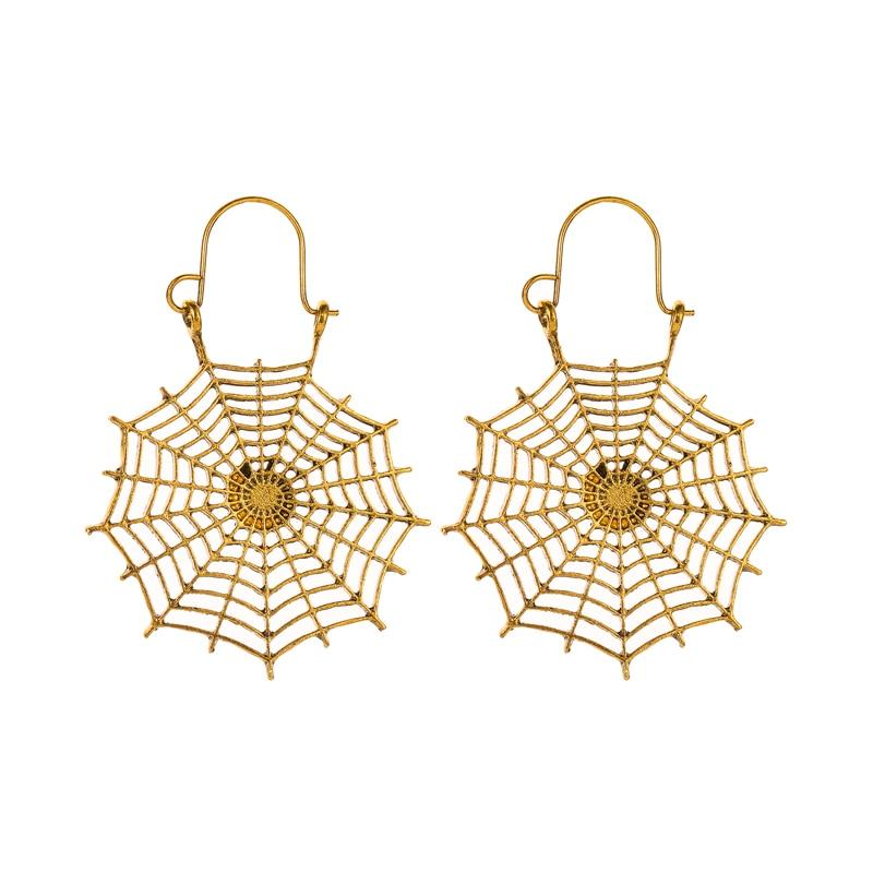 Geometric Spider Web Bohemian Antique Earrings Pendant Hoop Hollow Cobweb Dangle Drop Earring Jewelry For Women Jewelry