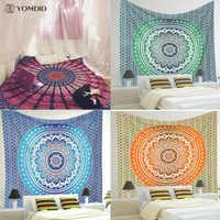 Tapiz de Mandala indio tapiz de pared multifuncional tapiz Boho impreso colcha cubierta de Yoga alfombra manta de Picnic